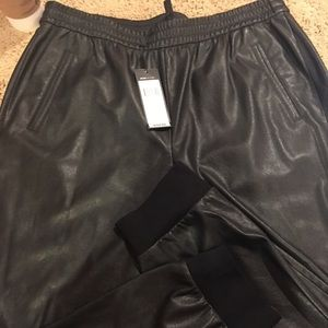 BCBG MAX leather joggers
